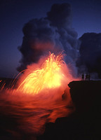Lava Flowing into Ocean #1