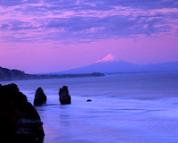 Sunrise near New Plymouth, Mt. Taranaki
