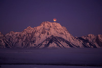 Lunar Eclipse Over Mt. Moran, Wyoming