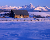 Barn and Tetons #1, Idaho