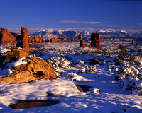 Winter near Balanced Rock, Arches National Park