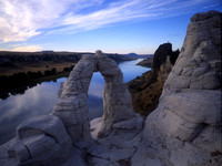 Eye of the Needle Arch, Missouri River, Montana.