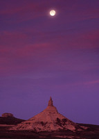Chimney Rock Moonset, NE